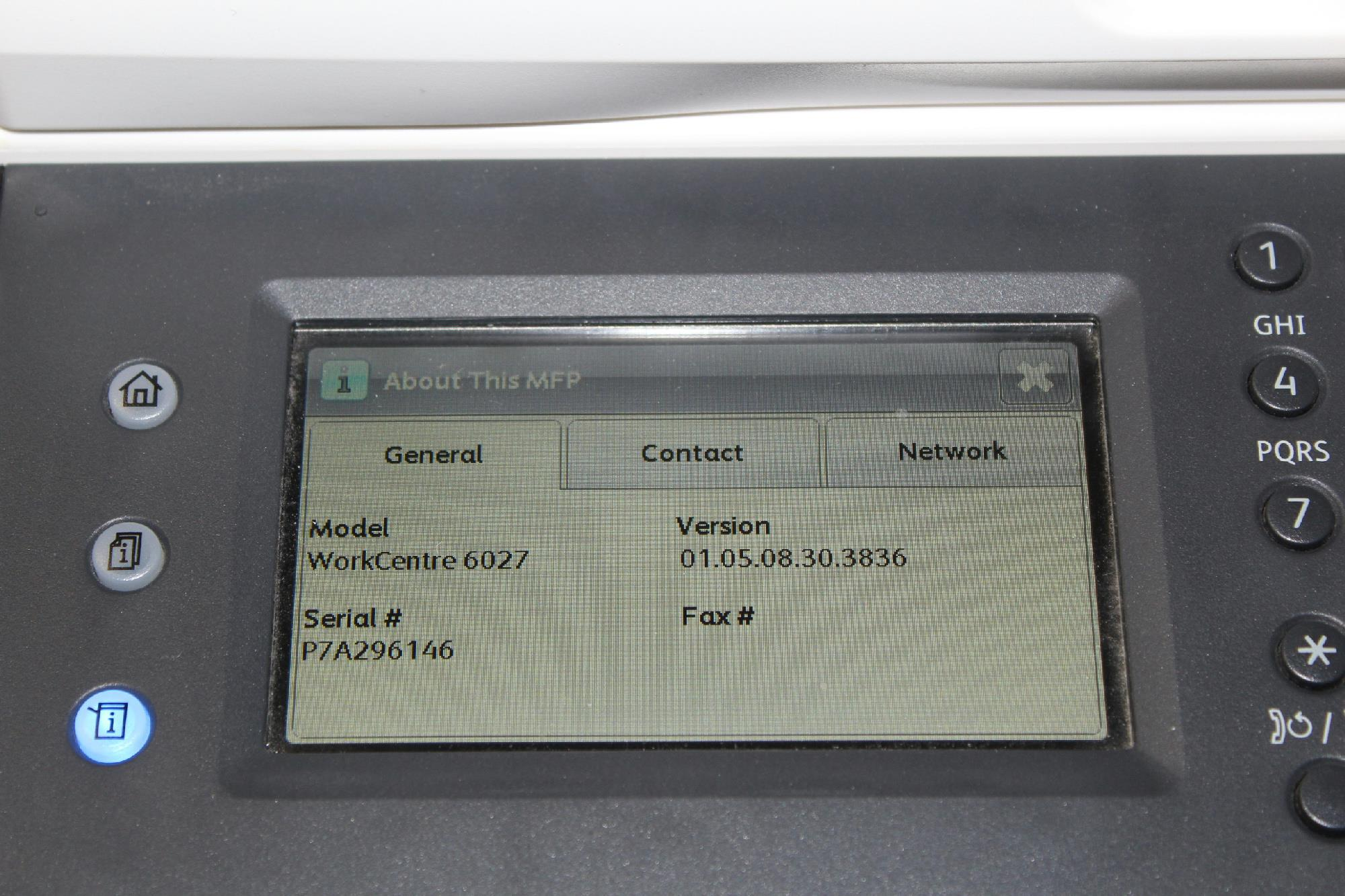 Xerox Workcentre 6027 Ni Multifunction Color Led Printer For