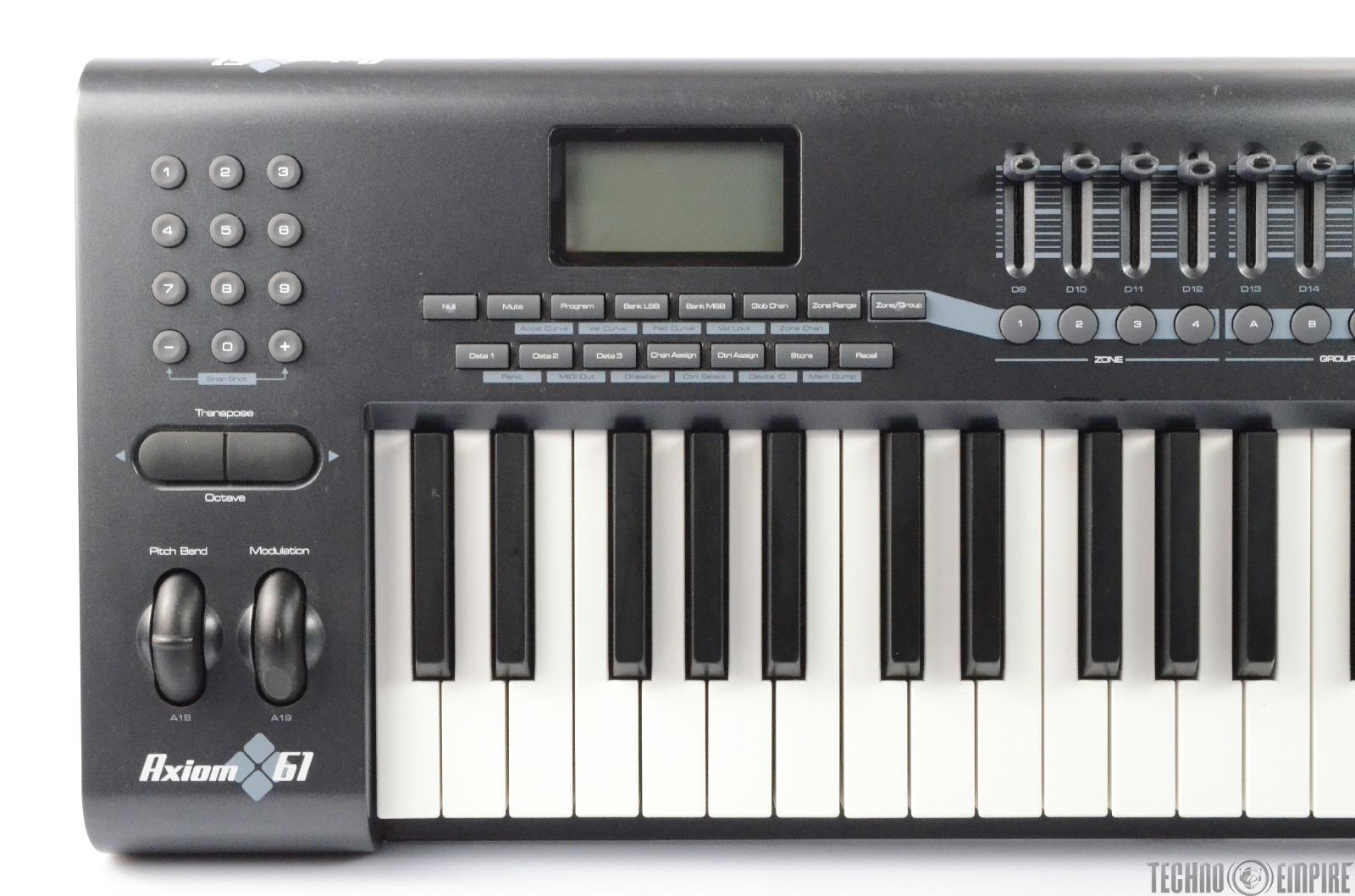 m audio axiom 61 61 key usb midi keyboard controller 26684 ebay. Black Bedroom Furniture Sets. Home Design Ideas