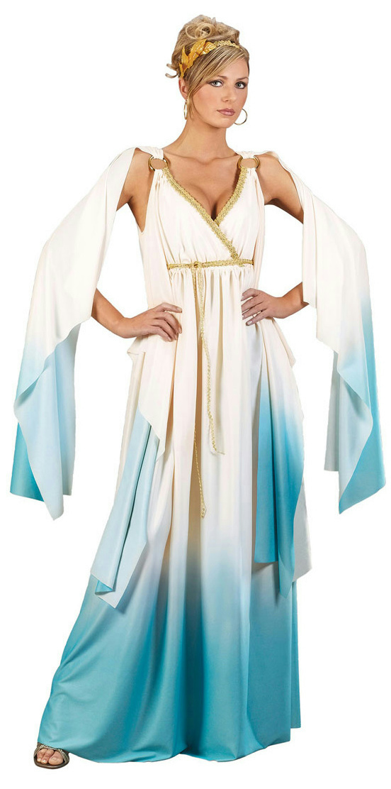description greek roman goddess adult costume