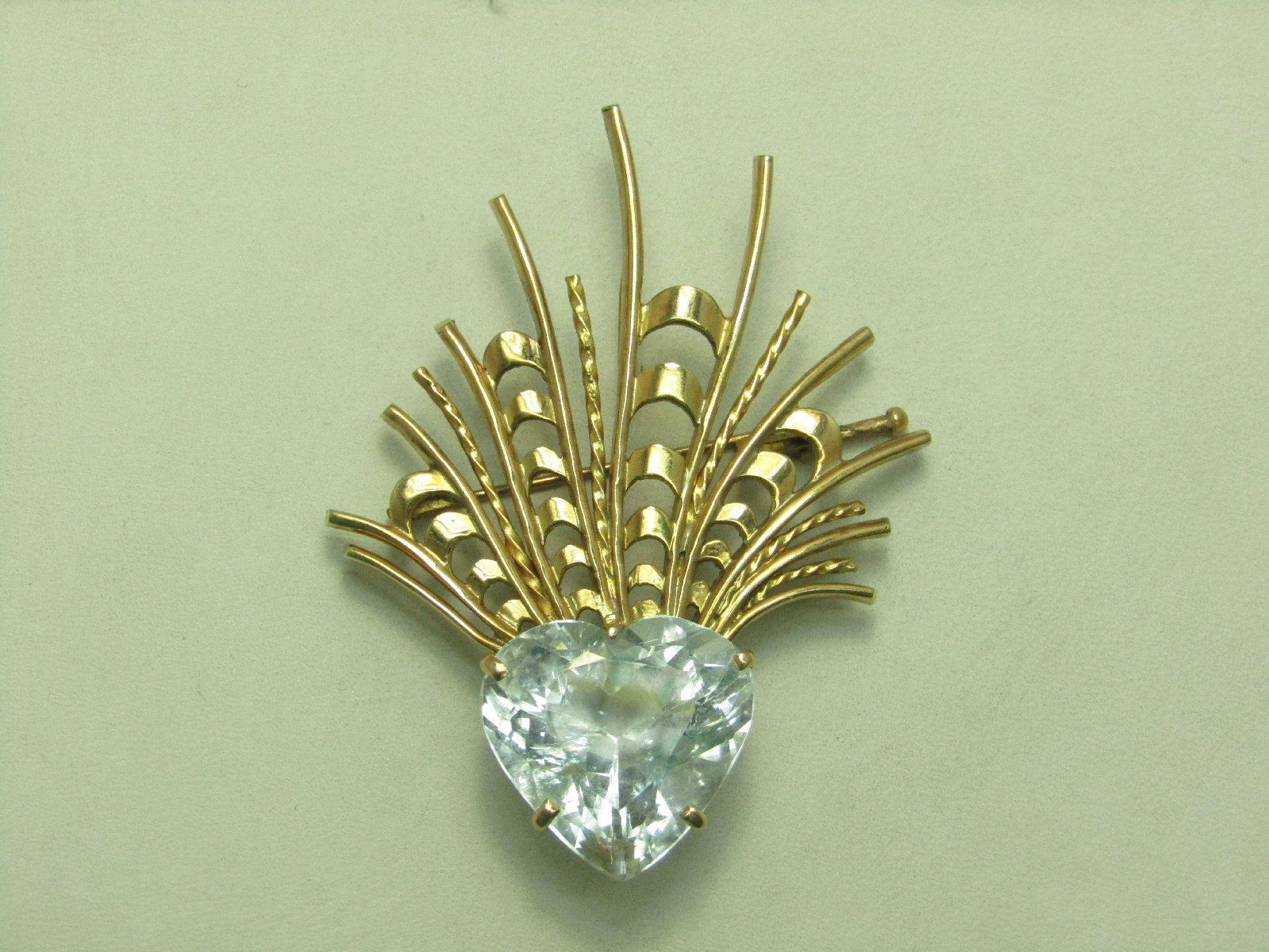 Unmarked Tests 14k Yellow Gold Vintage Jewelry Pin Brooch
