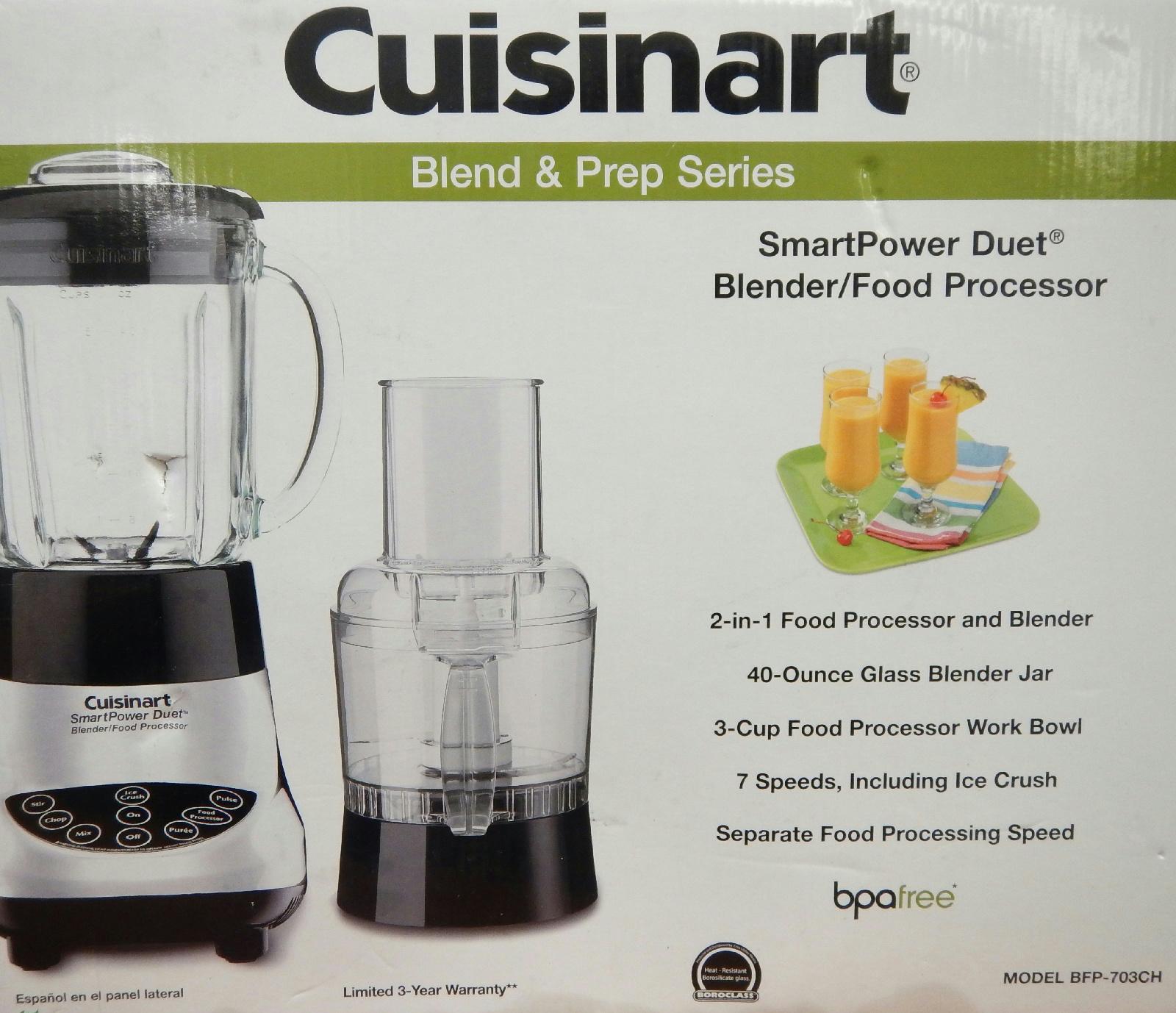 Cuisinart smartpower duet blender and food processor - Cuisinart Bfp 703ch Smartpower Duet Blender Food Processor Chrome
