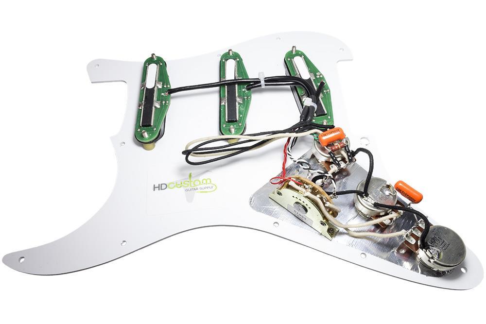 loaded strat pickguard dimarzio cruisers split wiring treble bleed mint gr cr ebay. Black Bedroom Furniture Sets. Home Design Ideas