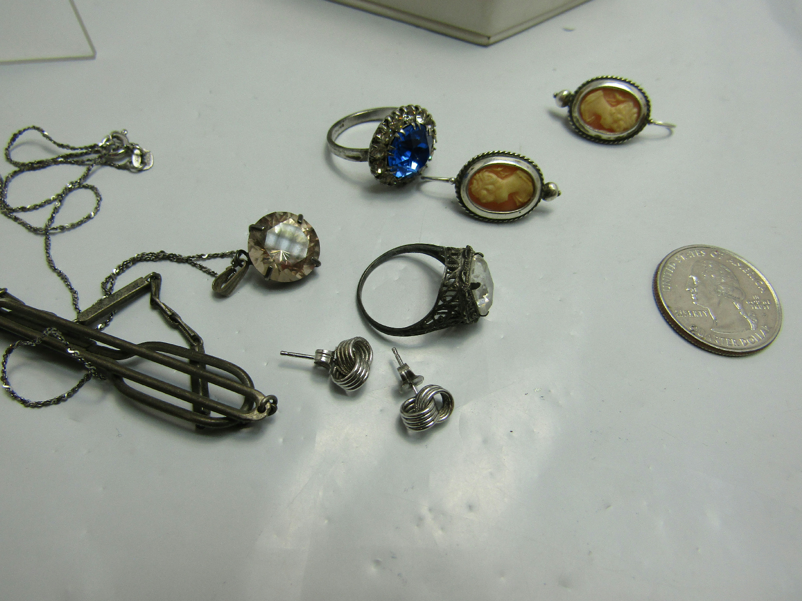 lot of sterling silver jewelry vintage inspired sparkle
