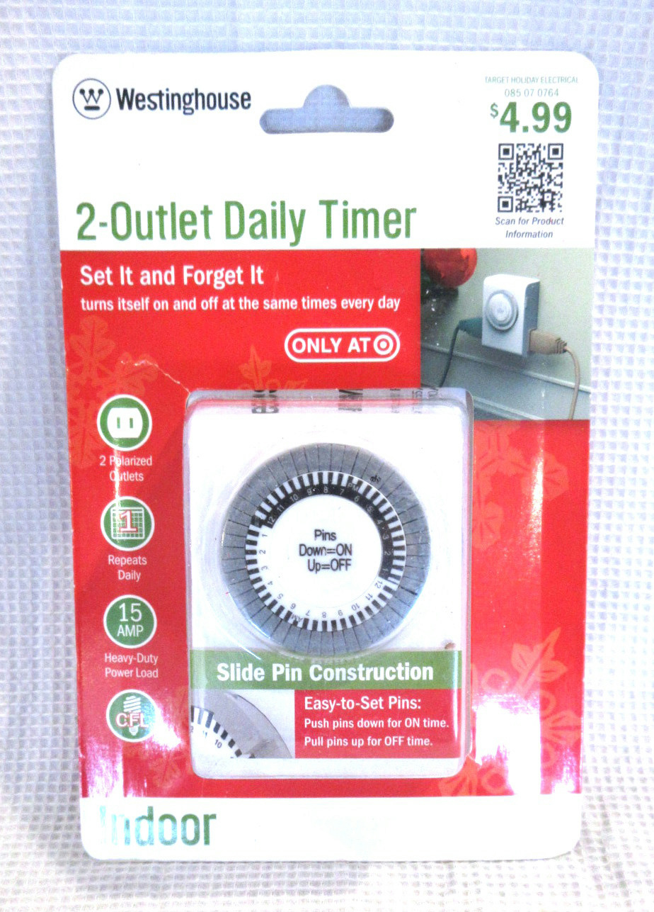Westinghouse Time Capsules: NEW Westinghouse 2-Outlet Indoor Daily Electrical Timer