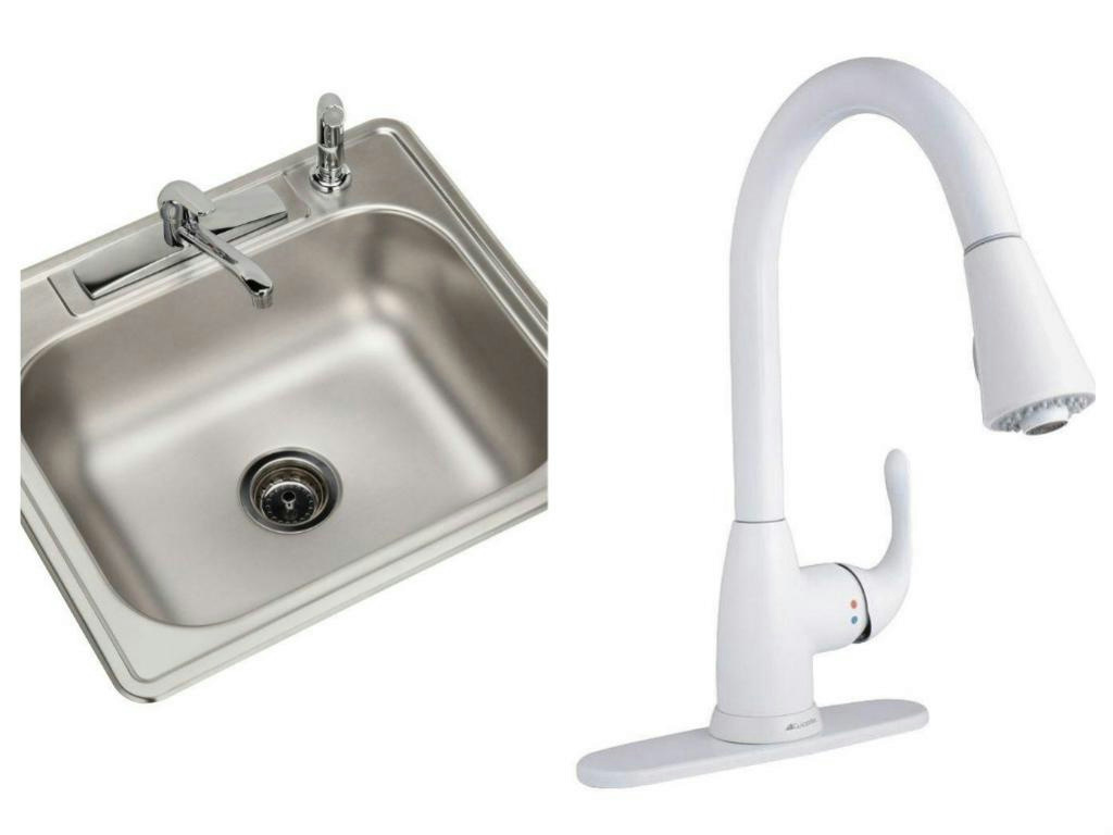 elkay 7 in single bowl kitchen sink glacier bay