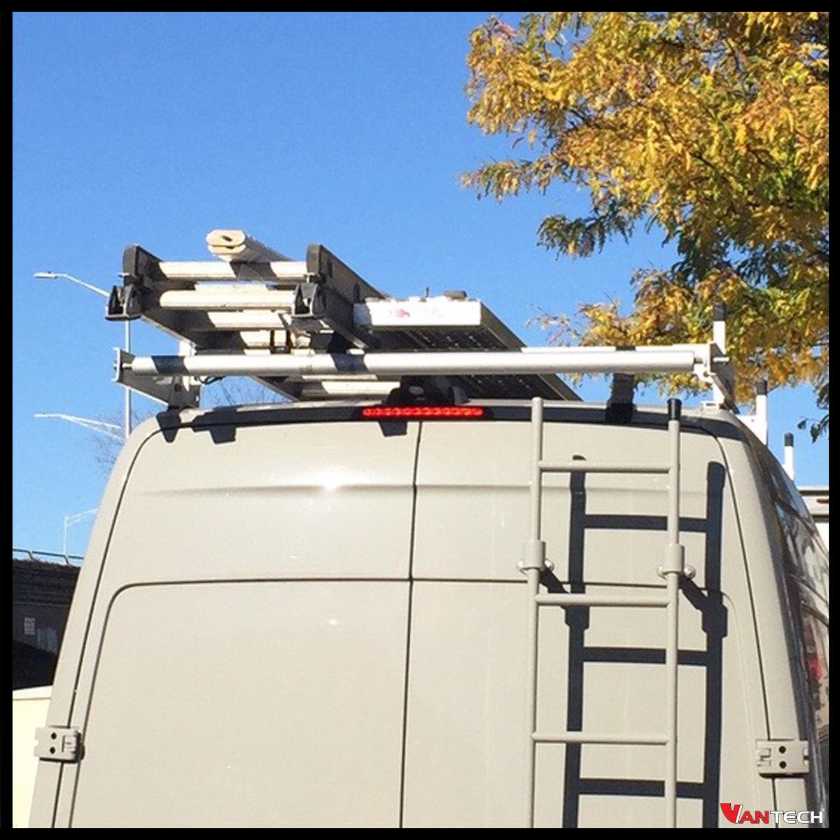 White Vantech H1 3 Bar Steel Ladder Rack W Roller For