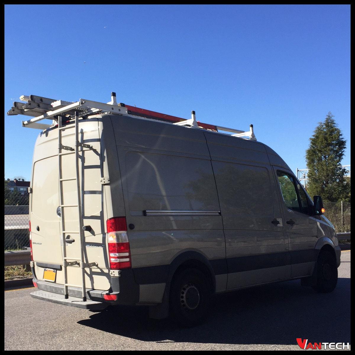 Vantech 3 Bar Black Aluminum Ladder Roof Rack System W
