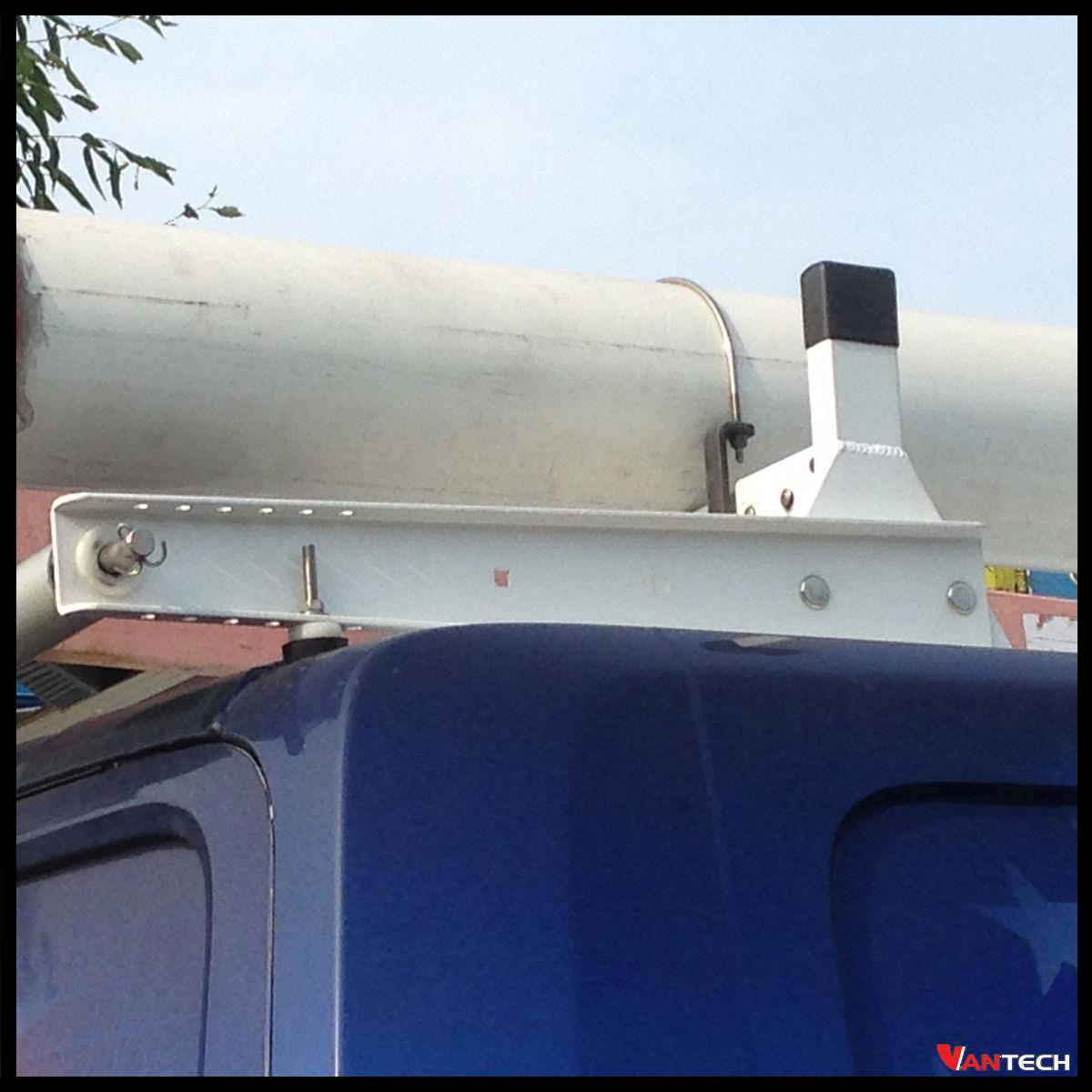 Vantech 3 Bar White Steel Ladder Roof Rack System W Roller