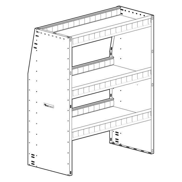 50 u0026quot  height 50 u0026quot  wide aluminum angled shelving unit