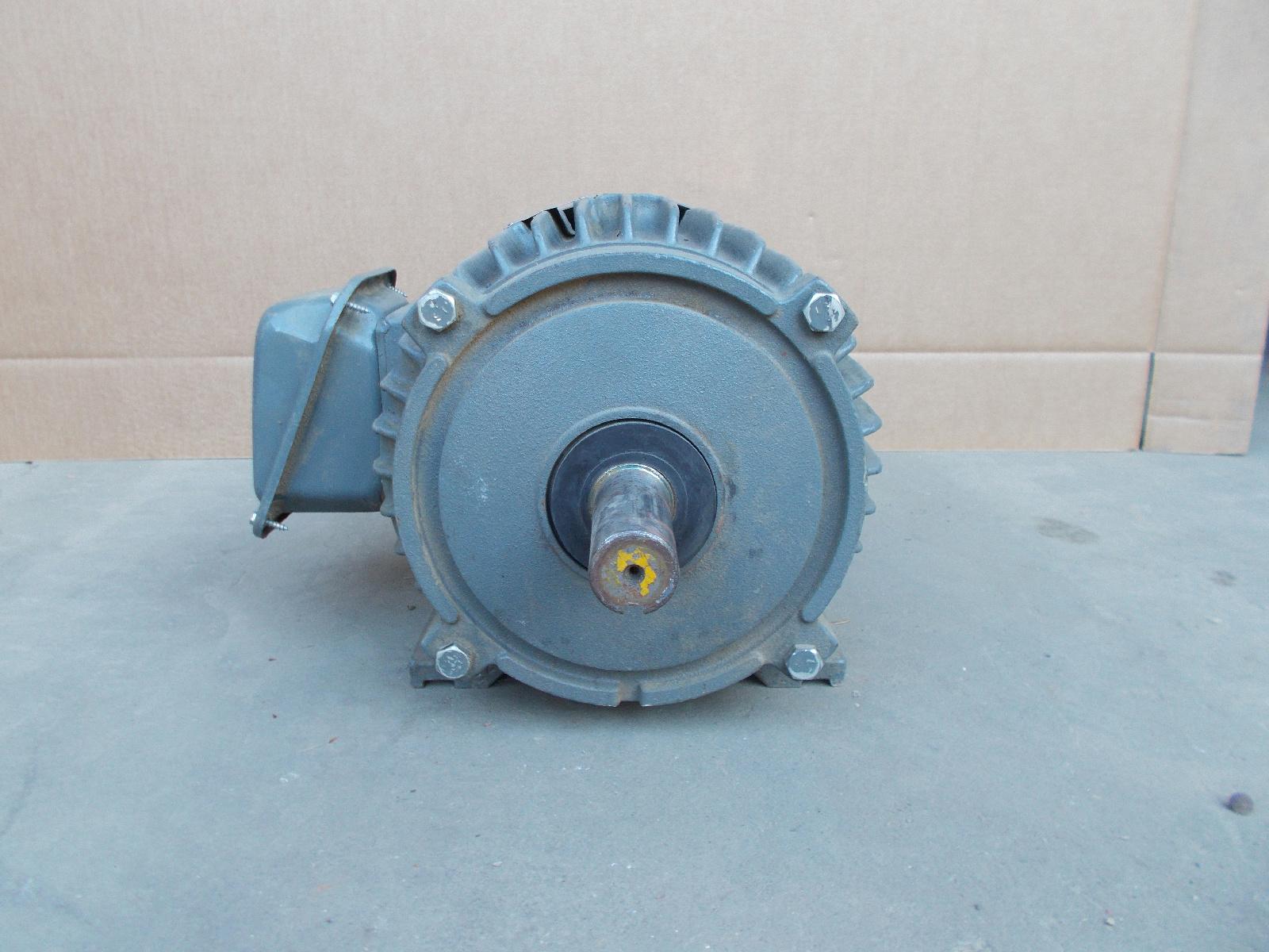 Teco Westinghouse Motor Np0056 5hp 230 460v 1170rpm 215t