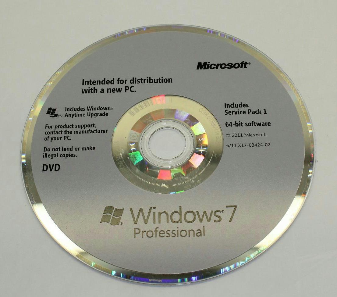 Microsoft windows 7 professional w service pack 1 64 bit for Window 7 service pack 1