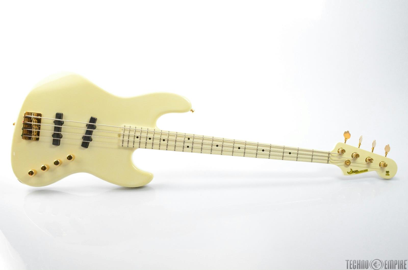 Moon PGM JJ4 Electric Bass Guitar Signed by Larry Graham w/ Hard Case #26451