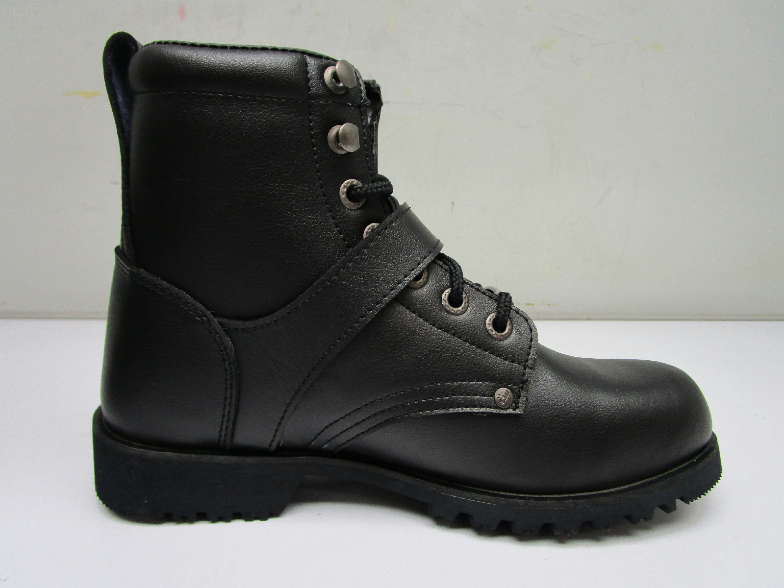 bilt highway lace up leather motorcycle boots s black
