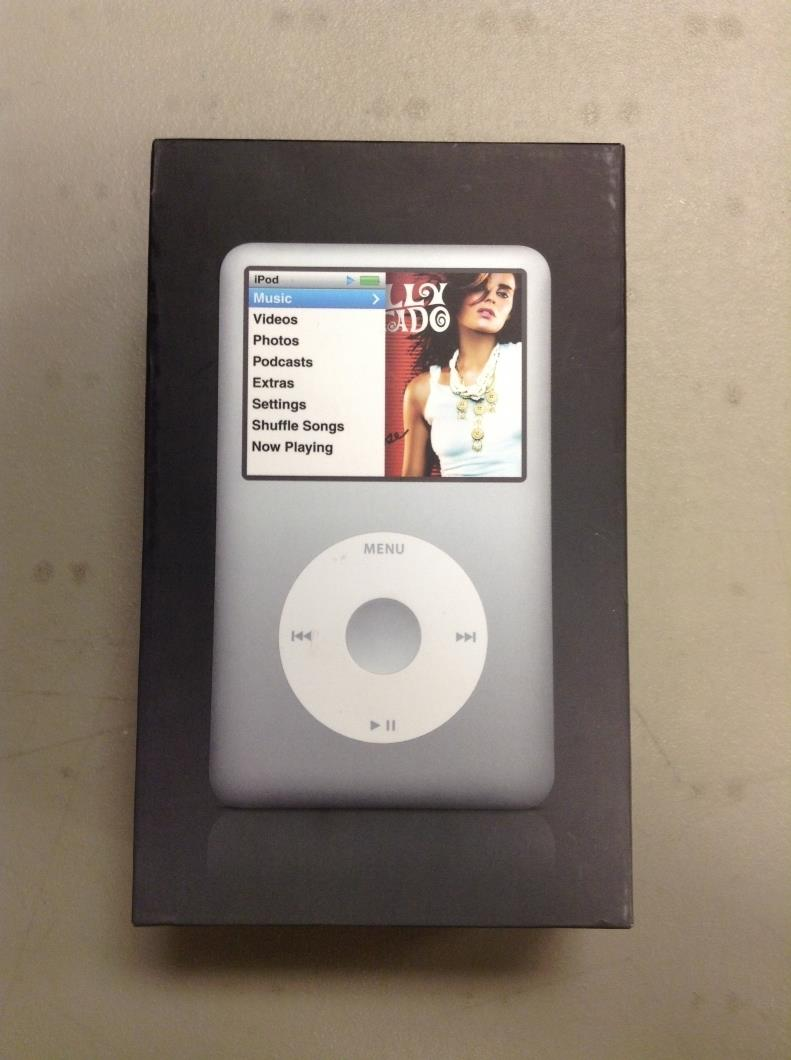 apple ipod classic 6th generation silver 80gb used. Black Bedroom Furniture Sets. Home Design Ideas