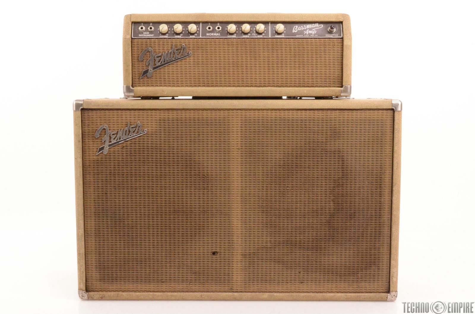 1963 fender bassman amp 6g6 b tube amplifier piggy back half stack blonde 26932 ebay. Black Bedroom Furniture Sets. Home Design Ideas