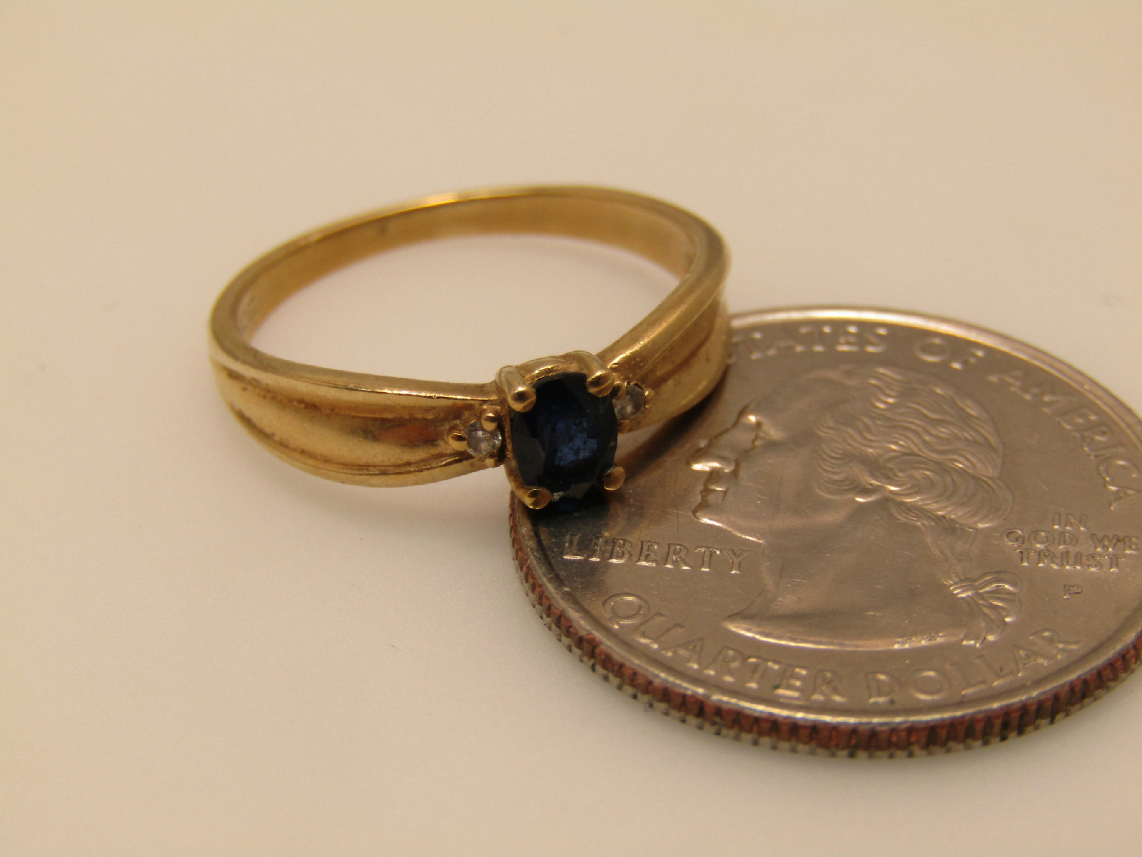 14kt yellow gold jewelry engagement ring blue w