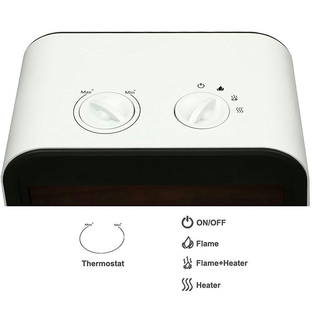 puraflame mini portable fireplace electric heater adjustable