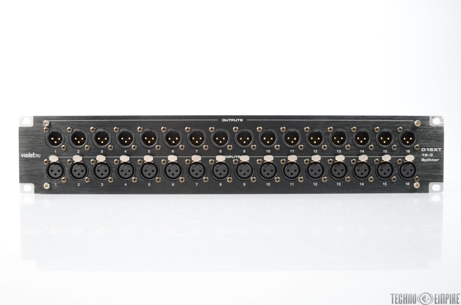 Violet Audio D16xt 16 Channel Xlr Db25 Passive Splitter