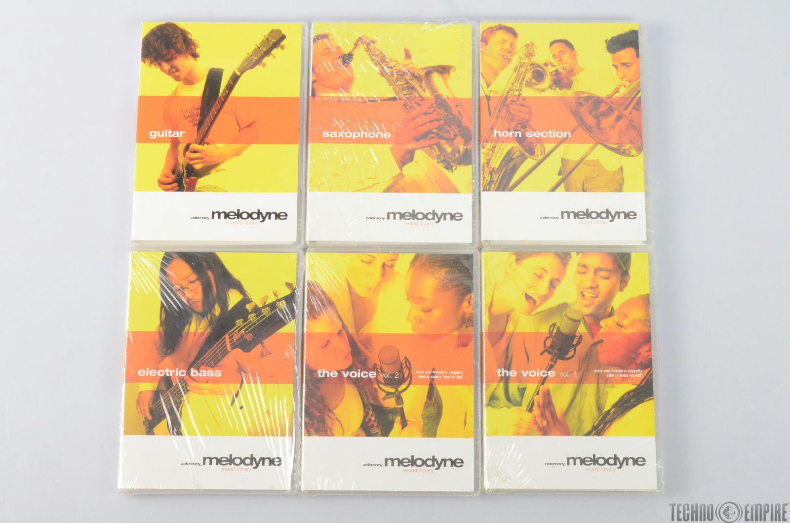 6-Disc Celemony Melodyne Sound Library The Voice Guitar Bass Horn & More #26923
