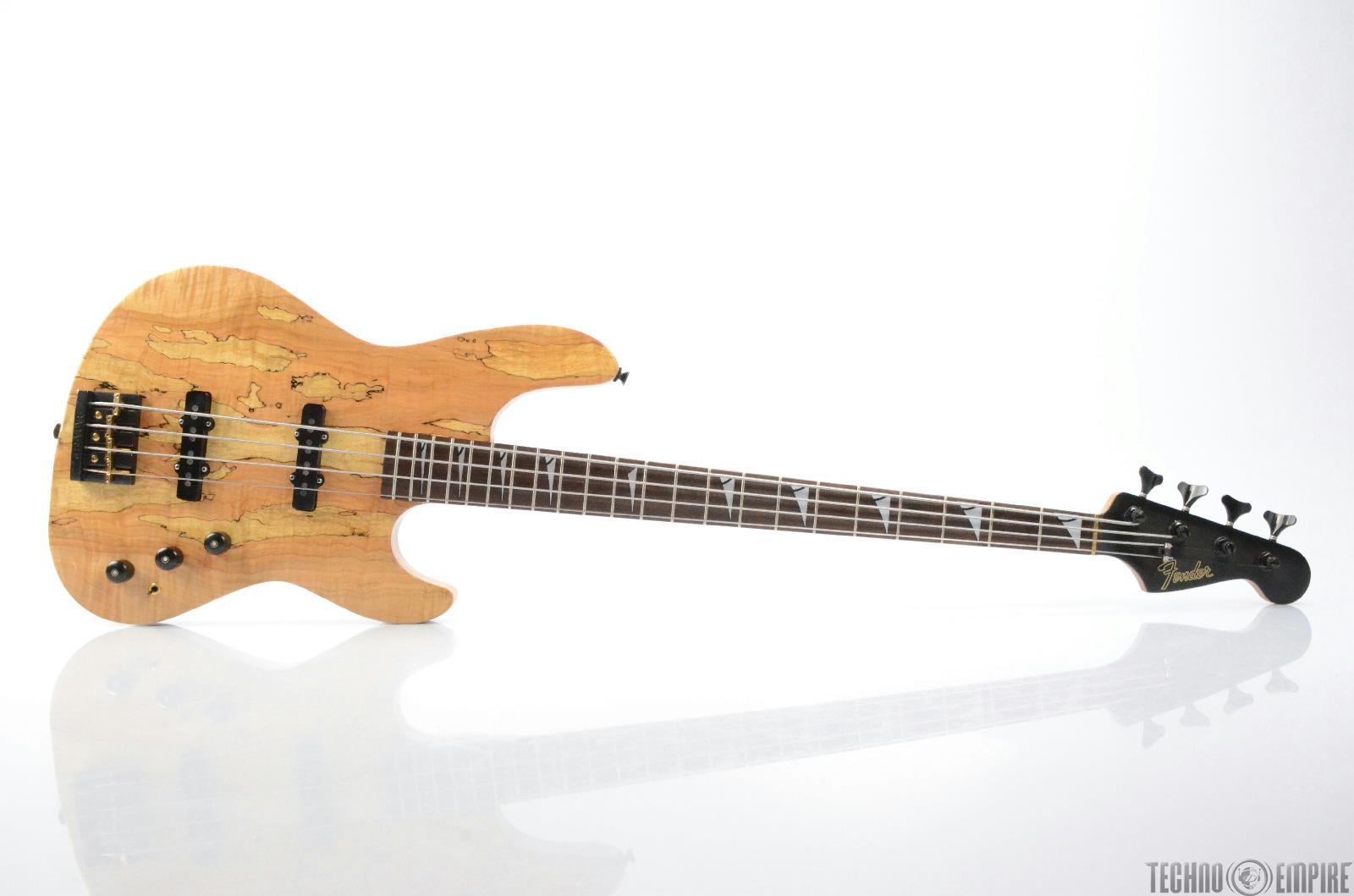 FENDER Custom Precision Jazz Electric Bass Guitar W/ Badass Bridge USA #26453