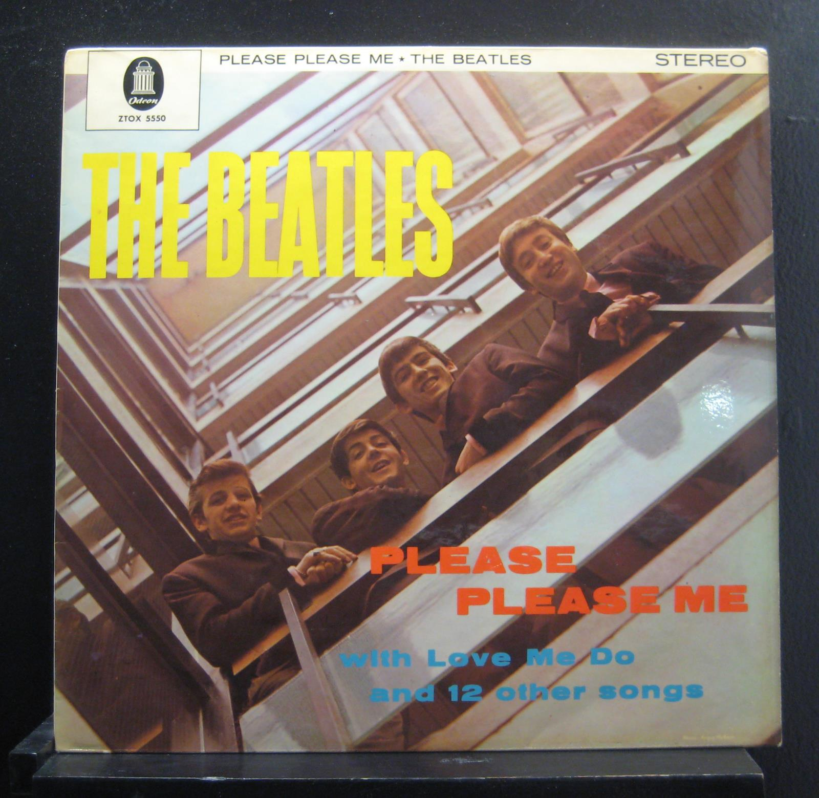 The Beatles Please Please Me Lp Vg Ztox 5550 Germany Gold