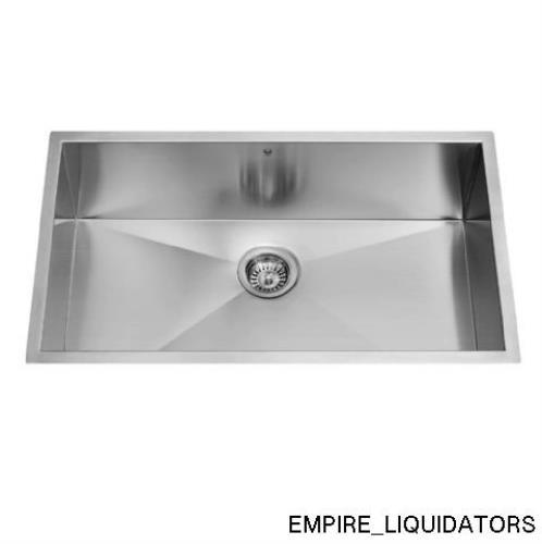 ... Undermount Stainless Steel 16 Gauge Single Bowl Kitchen Sink VG3019B