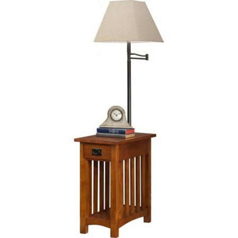 Leick Laurent Mission Chairside Lamp Table Amp Amazonbasics