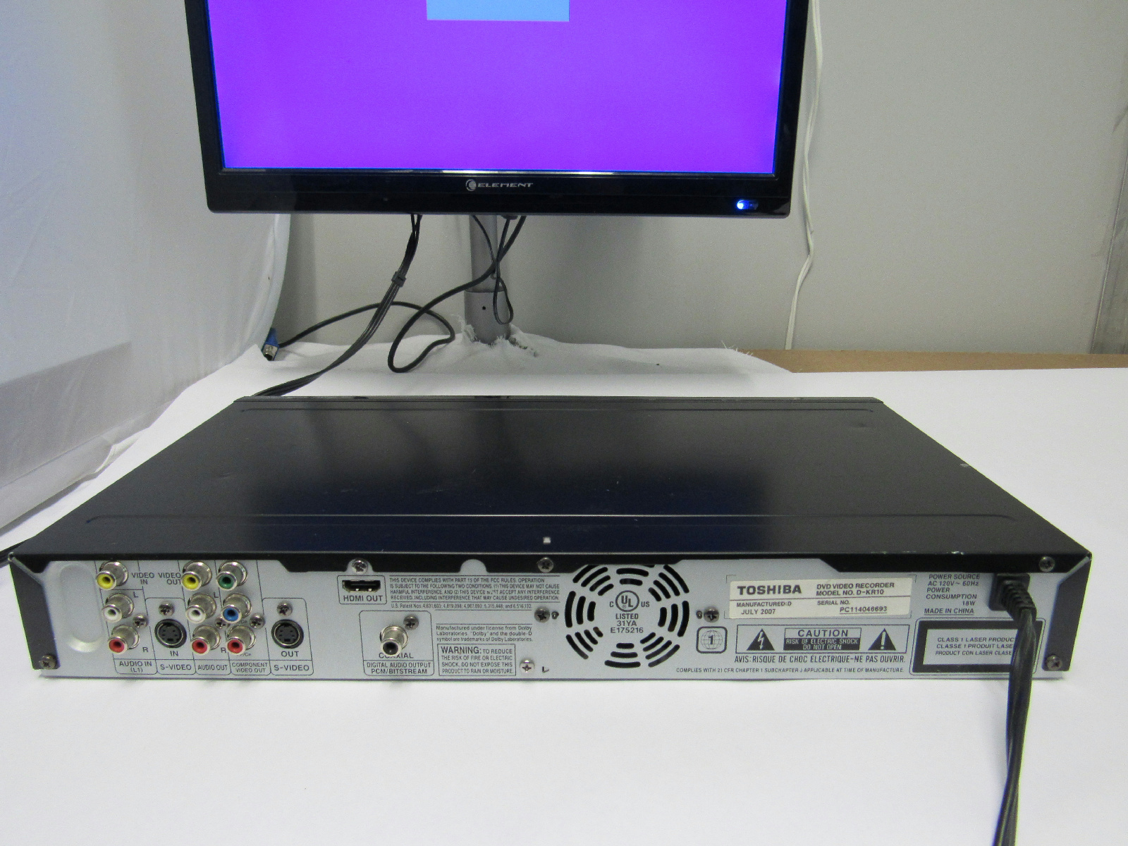 toshiba d kr10 dvd recorder player hdmi 1080p upconversion. Black Bedroom Furniture Sets. Home Design Ideas
