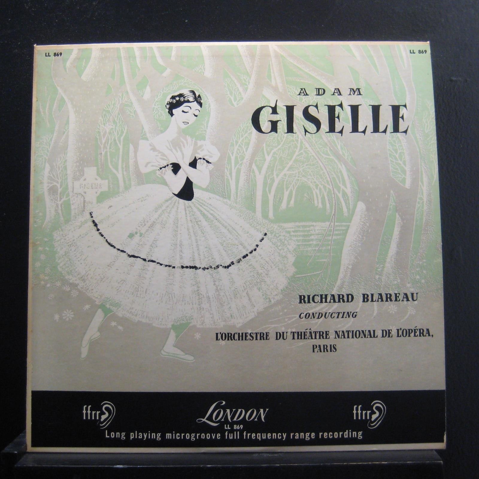 Adam Richard Blareau Giselle Lp Vg Ll 869 Mono Uk 1954