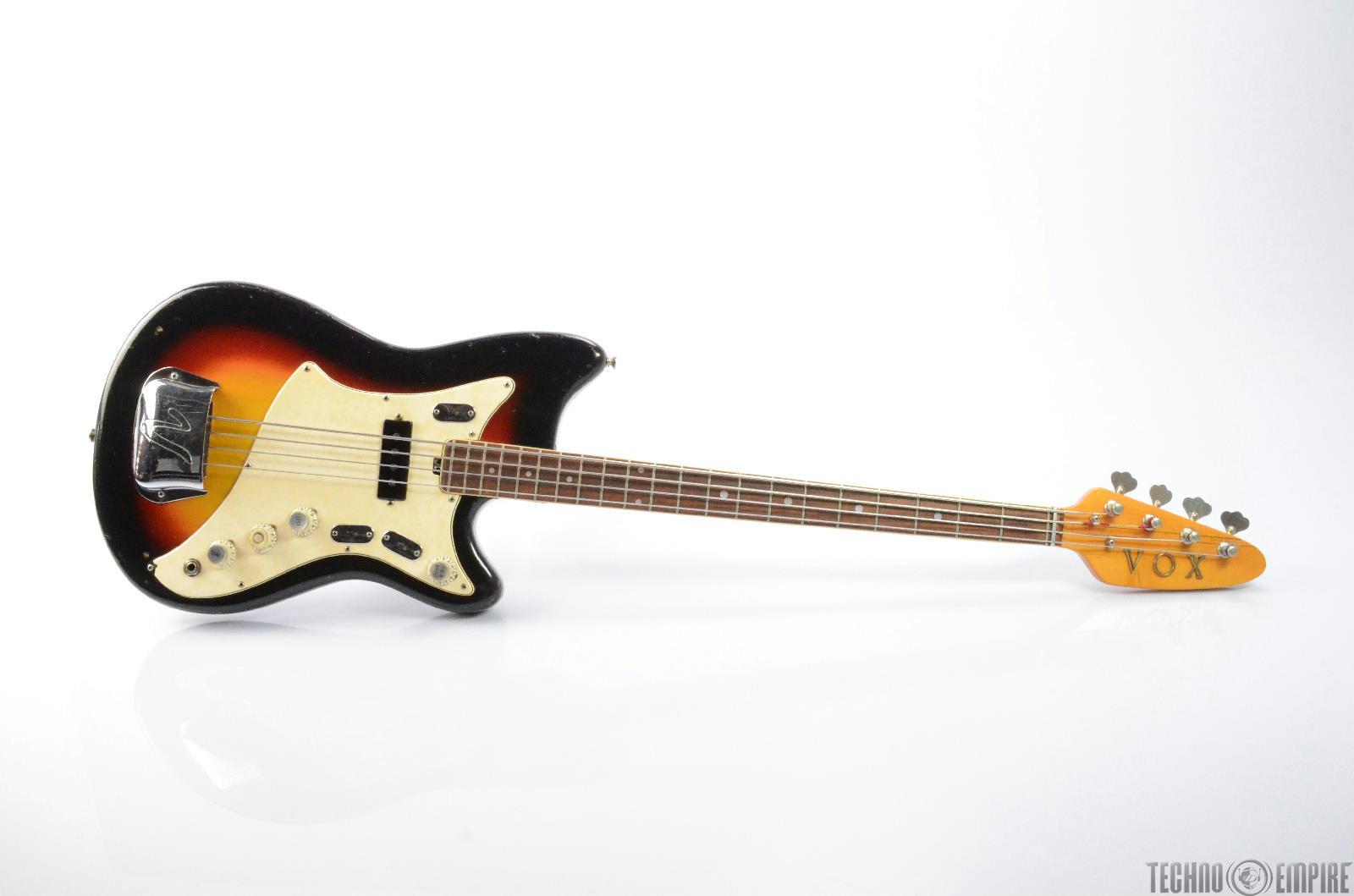 1968 VOX V263 Hawk IV Electric Bass Guitar w/ Carrying Bag #26423
