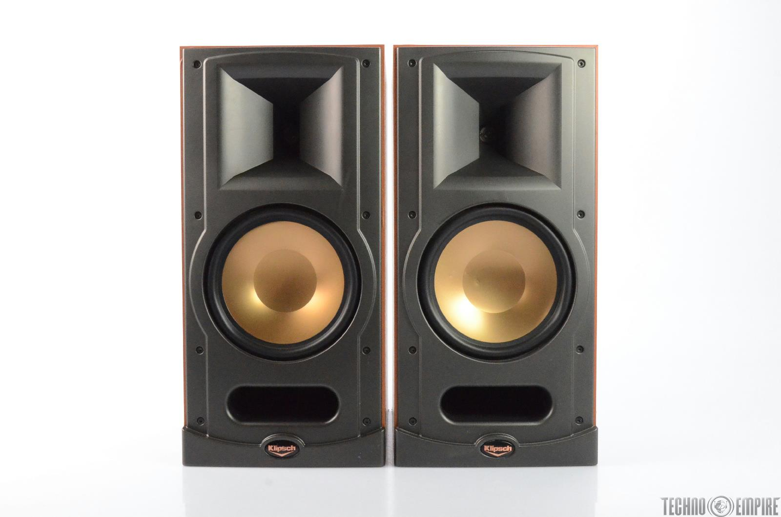 klipsch rb 81 bookshelf speakers cherry finish pair 27152 ebay. Black Bedroom Furniture Sets. Home Design Ideas