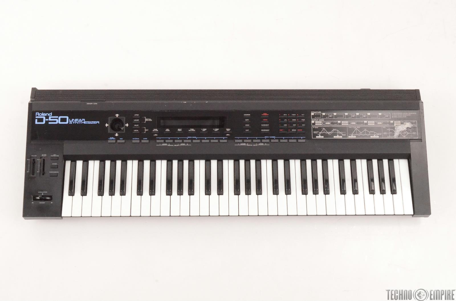 Roland D-50 61-Key Digital Linear Synthesizer Keyboard Needs Repair #27154