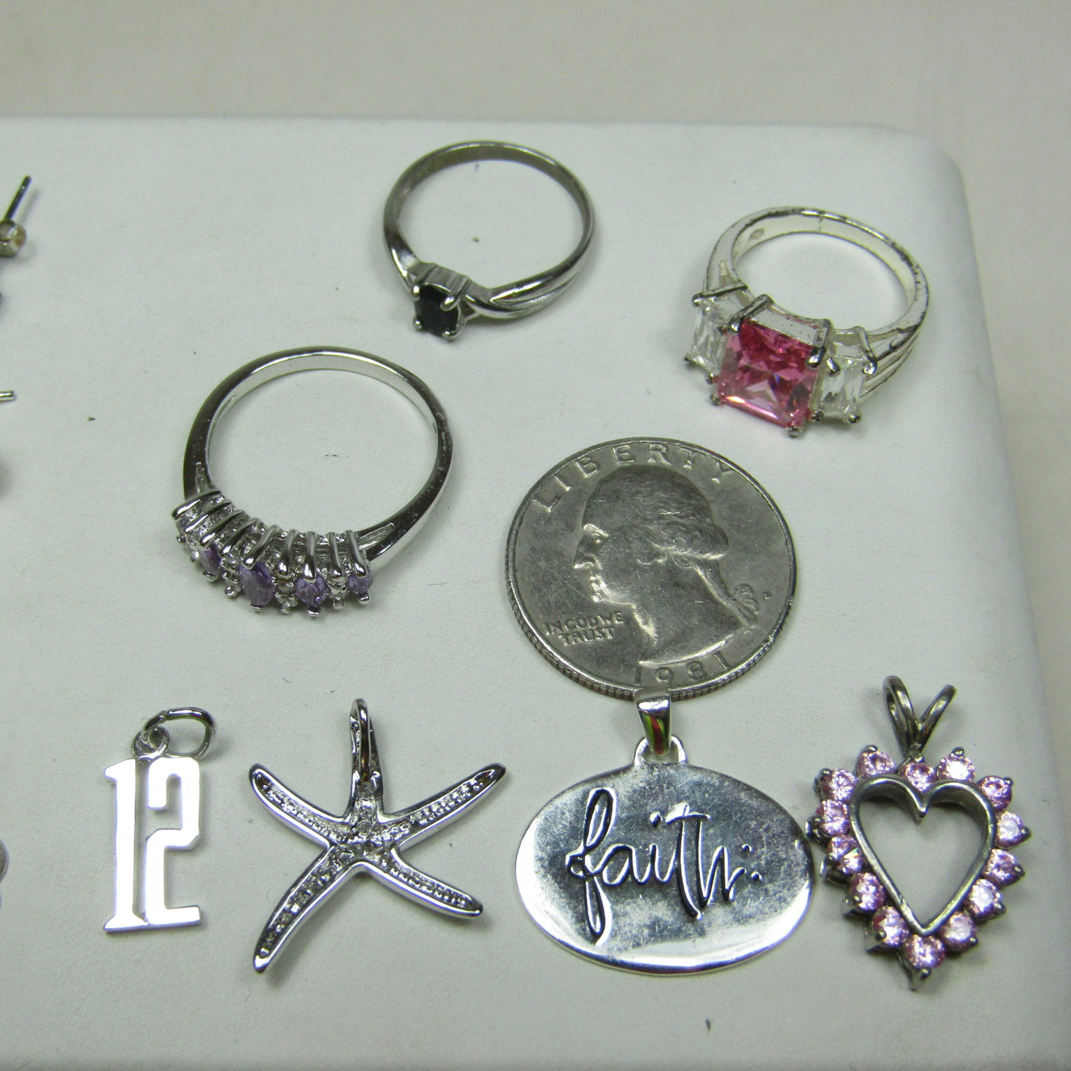 sterling silver failed magnet test jewelry lot sparkle