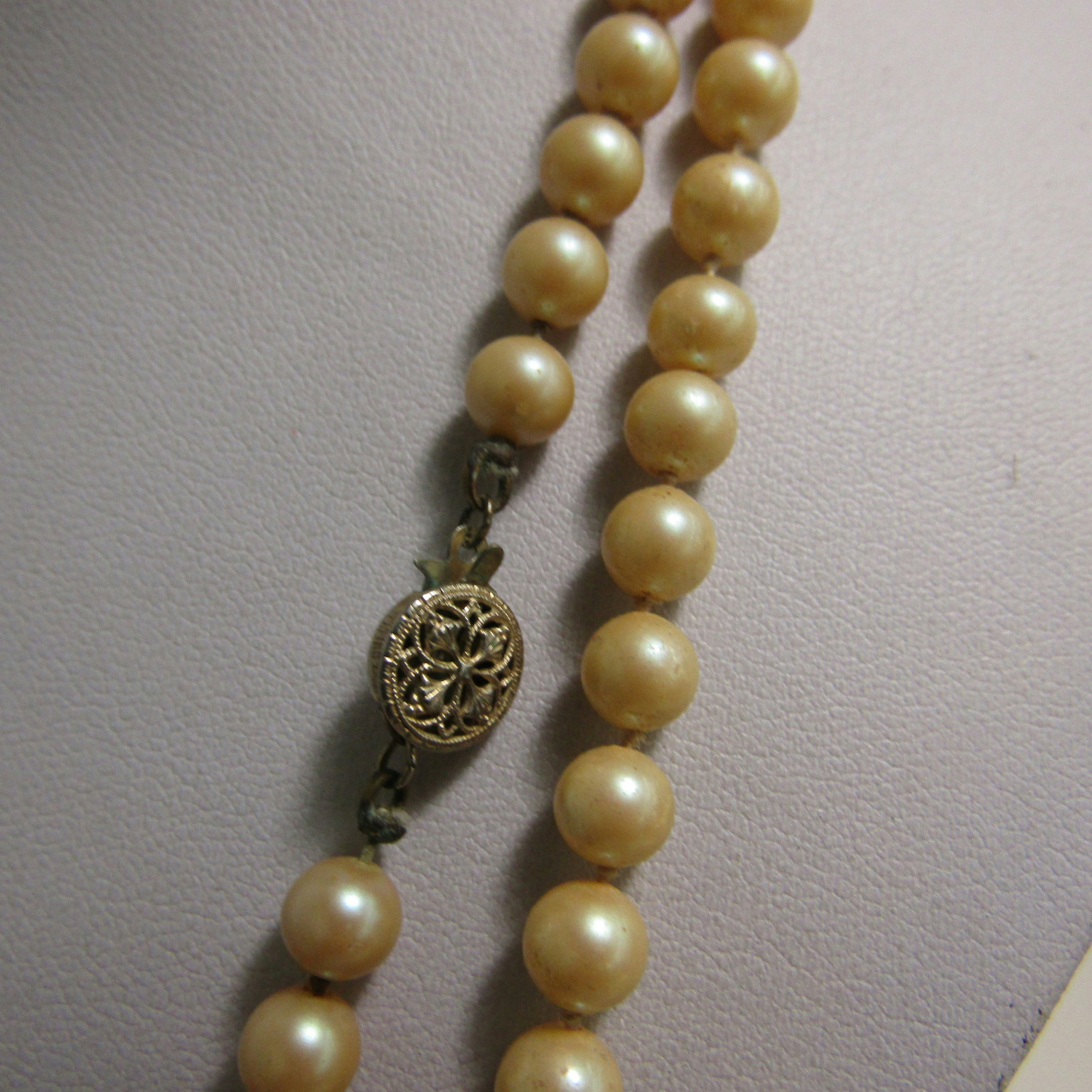 Pearl Necklace Clasps: Vintage Sterling Silver Clasp Marked Findings Jewelry Faux