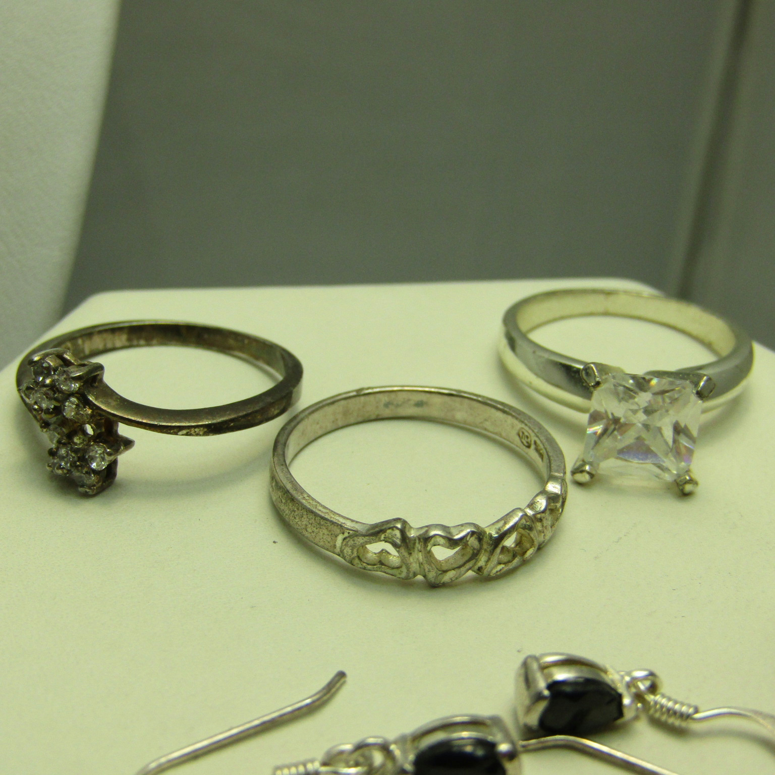 lot of sterling silver failed magnet test jewelry rings