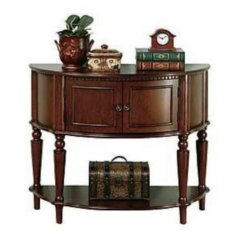 Coaster Furniture Brown Demilune Console Table 950059
