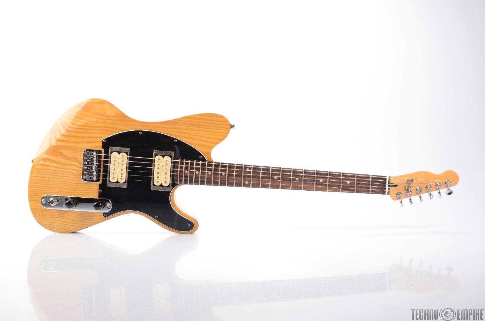 MIGHTY MITE Fender Lic. Custom Oak HH Tele-Style Electric Guitar w/Case #26449