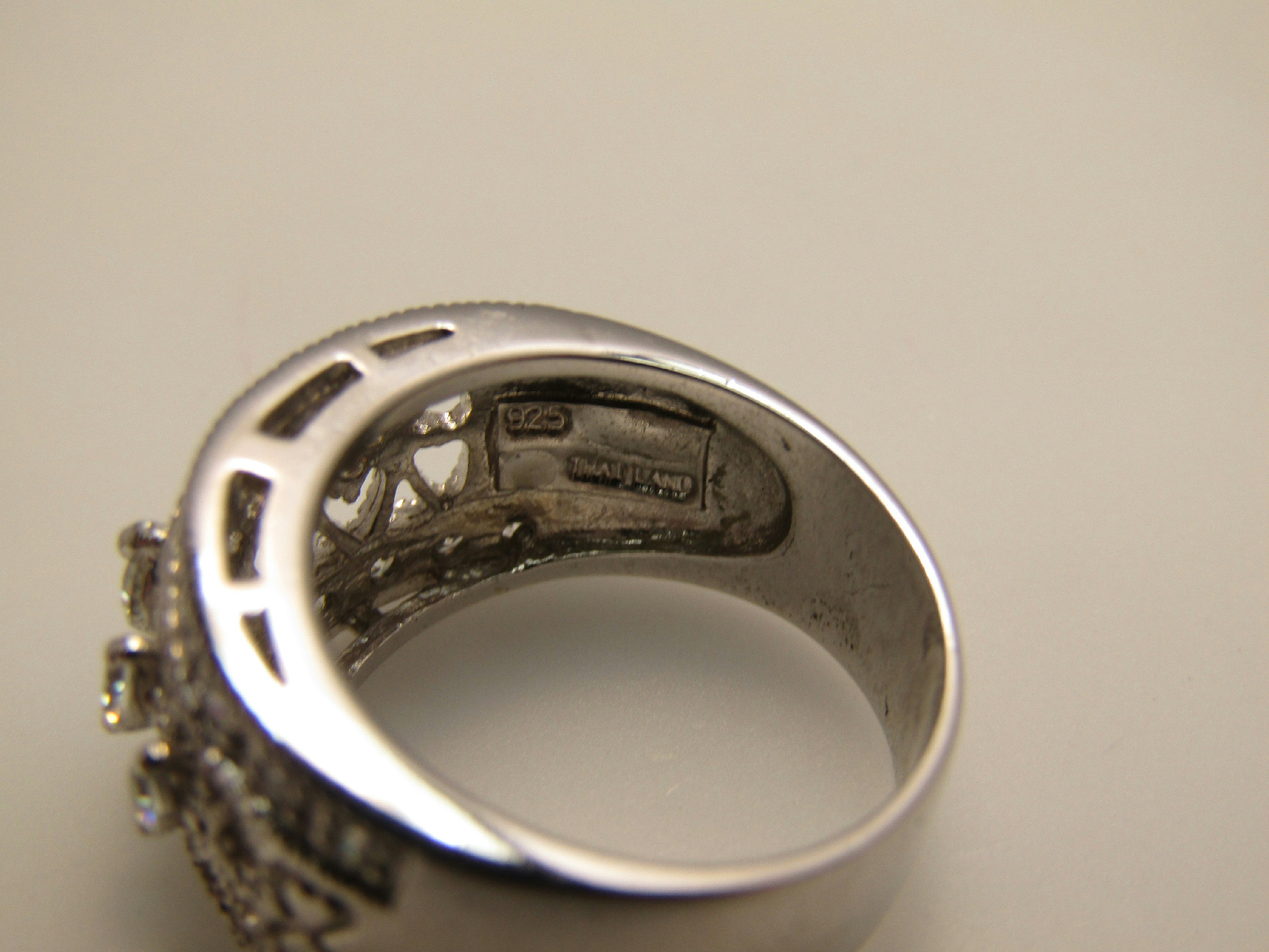 sterling silver failed magnet jewelry size 7 ring white