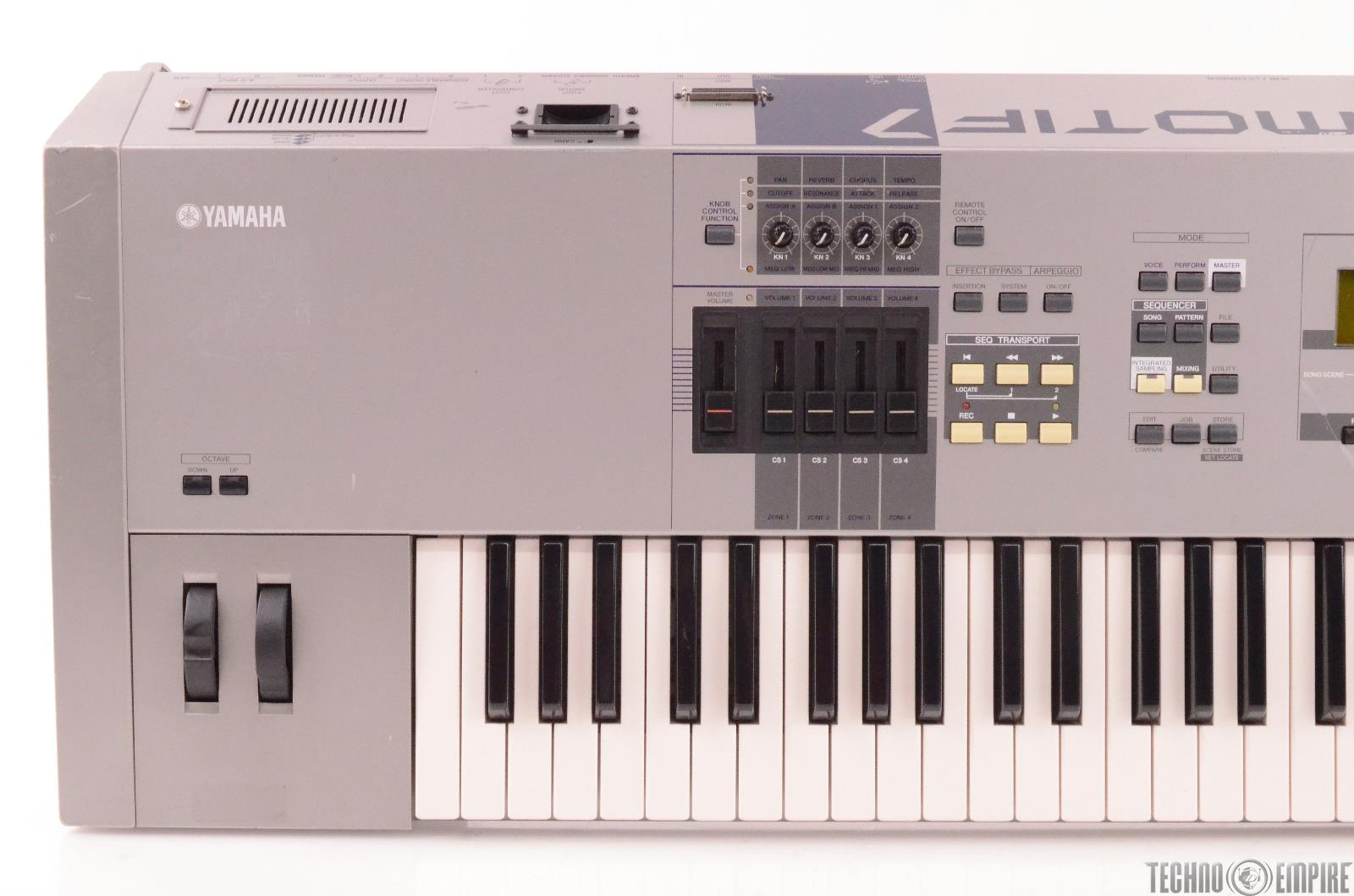 Yamaha motif 7 76 key keyboard music production for Yamaha motif keyboard