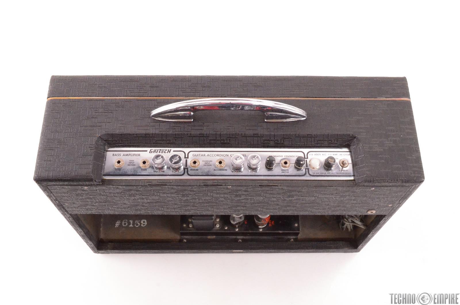 1962 gretsch 6159 2 ch bass guitar accordion tube combo amp amplifier 27426 ebay. Black Bedroom Furniture Sets. Home Design Ideas