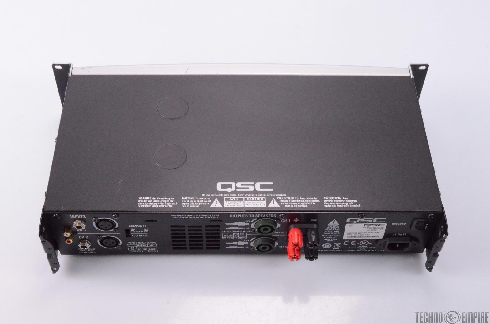qsc gx3 425 watt 4 stereo power amplifier needs repair 27427 ebay. Black Bedroom Furniture Sets. Home Design Ideas