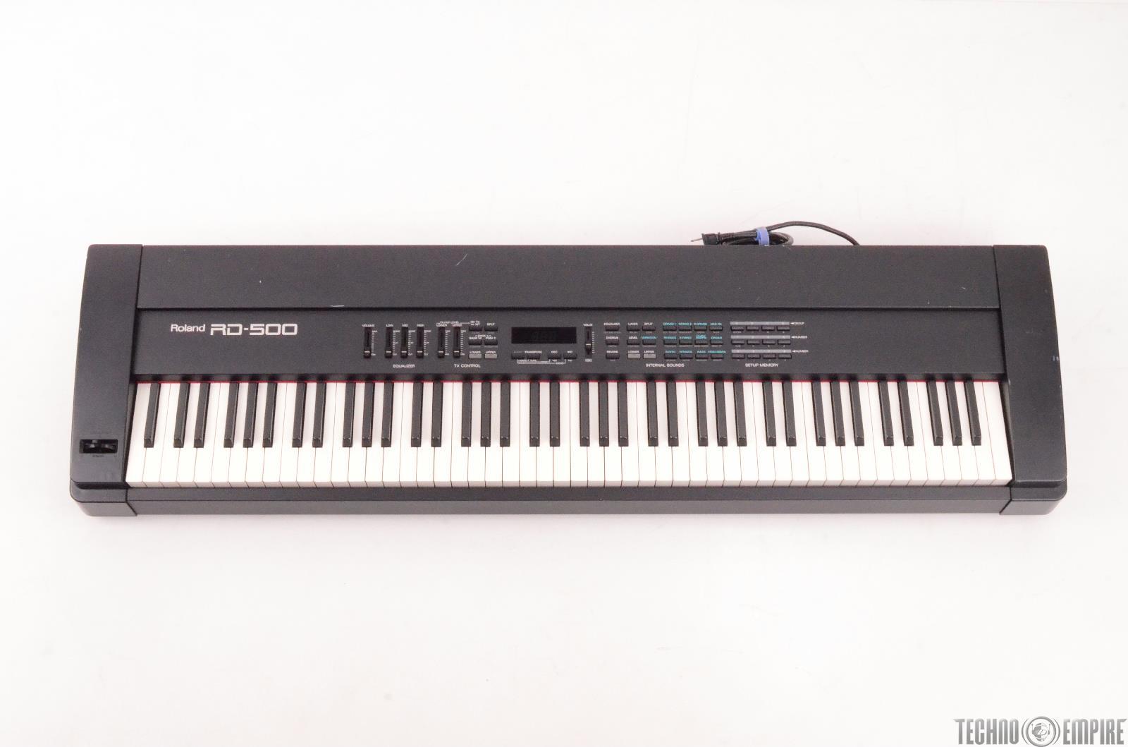 roland rd 500 88 key weighted keys keyboard 27008 ebay. Black Bedroom Furniture Sets. Home Design Ideas