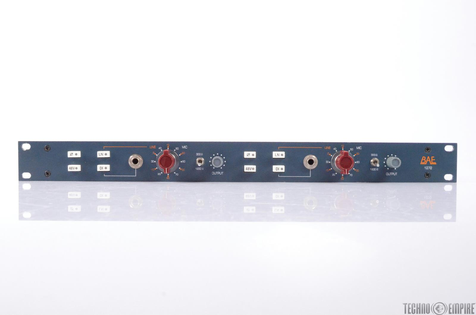 BAE 1272 Microphone/ Line Preamp DI w/ Power Supply 1272A  Neve #27447