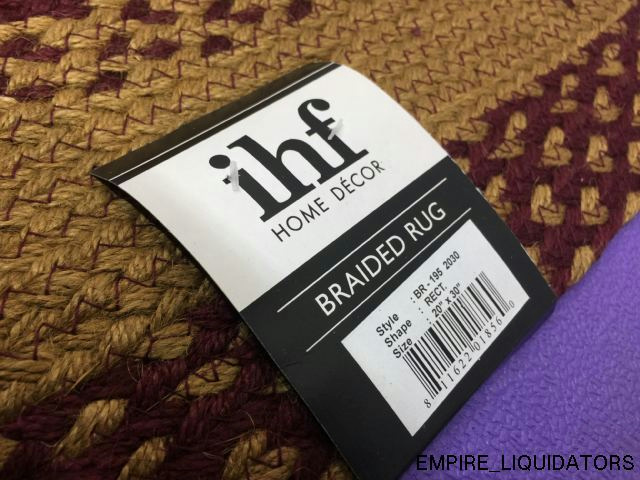 Ihf Home Decor Area Accent Braided Rug Rectangle Floor