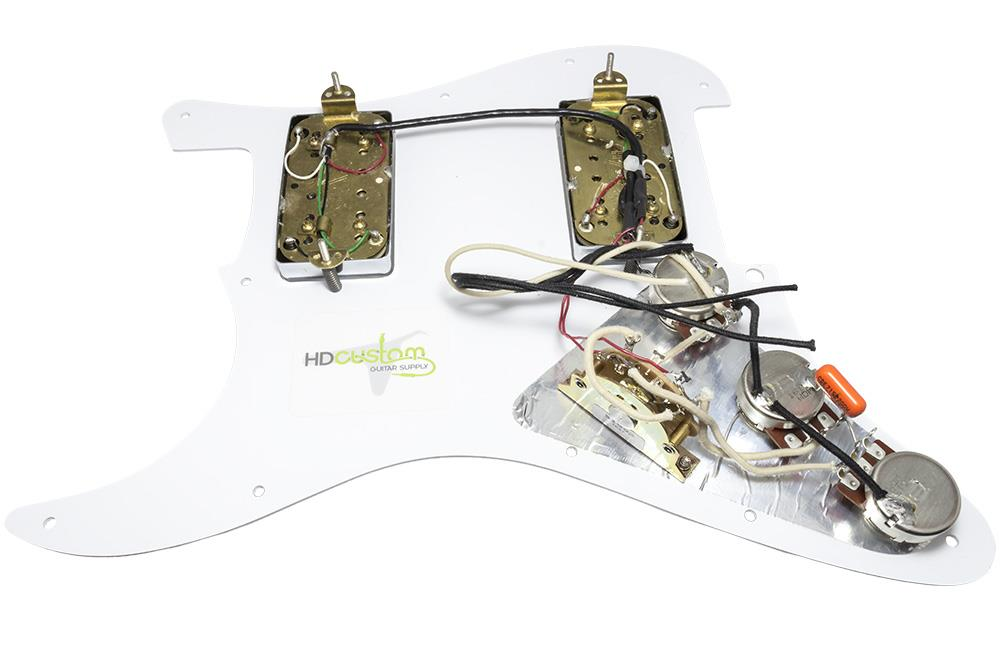 Loaded Stratocaster Pickguard W Evh Wolfgang Humbuckers
