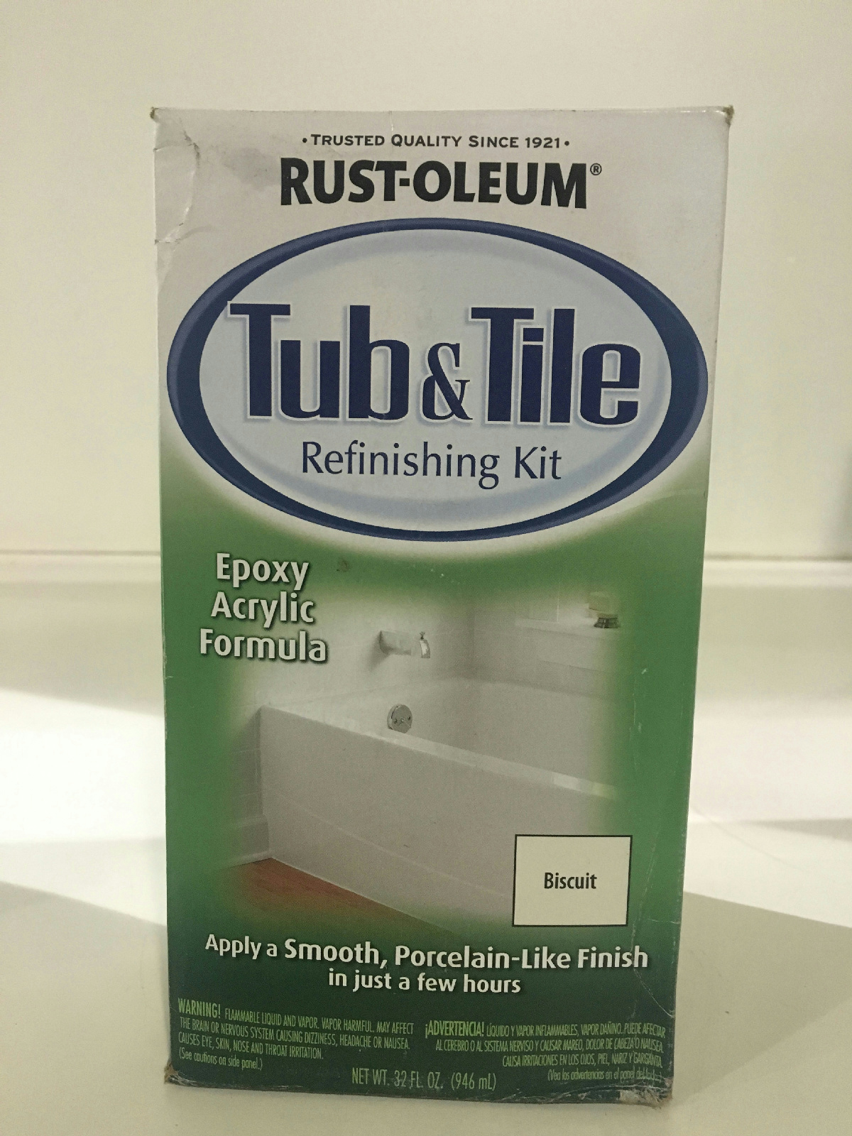 Rust Oleum 7862519 1 Qt Biscuit Tub And Tile Refinishing