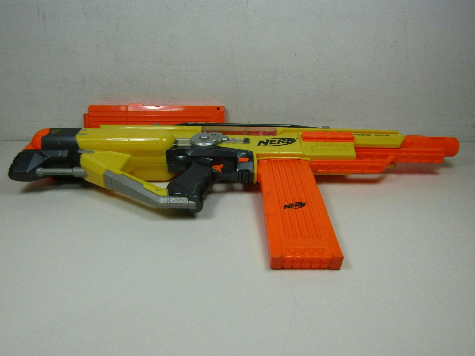 Nerf Stampede Ecs Soft Dart Blaster W Two Clips Empty Ebay