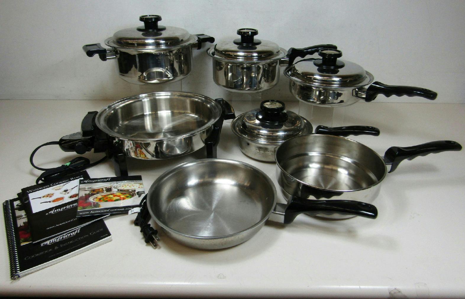 Kitchen craft americraft waterless 11 pc cookware set 1 for Kitchen craft cookware prices