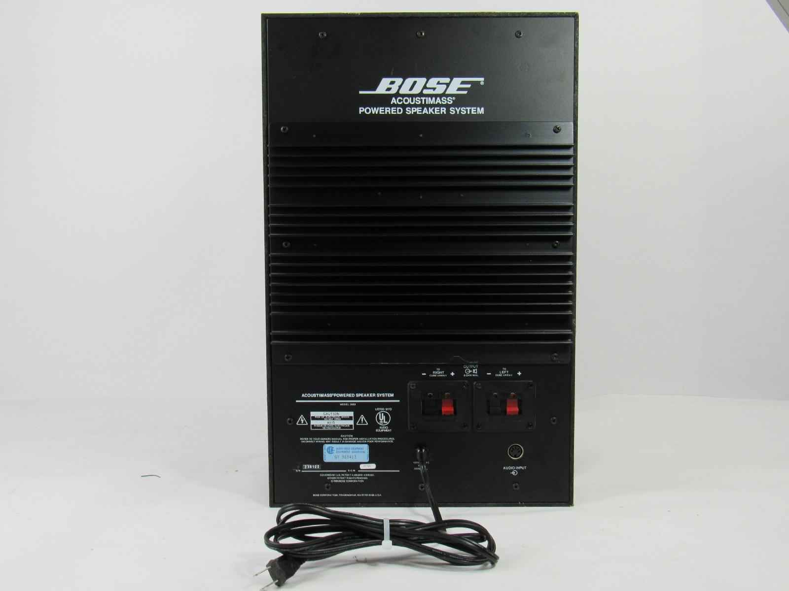bose 2683 acoustimass powered speaker system subwoofer ebay. Black Bedroom Furniture Sets. Home Design Ideas