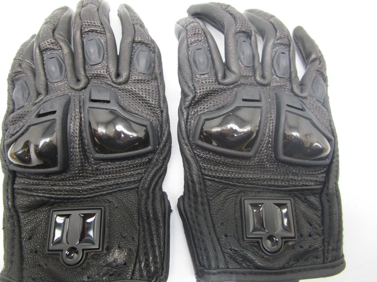 Icon justice leather motorcycle gloves - Icon Justice Perforated Motorcycle Gloves Women S Black Xs